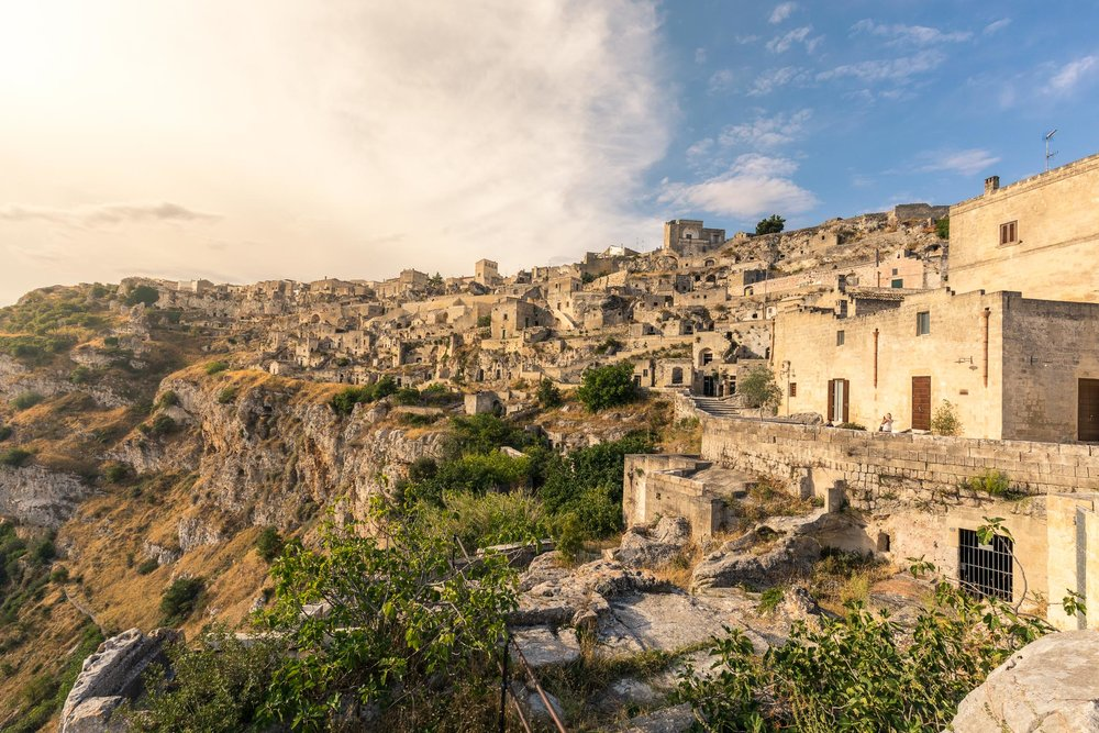 View from our hotel in Matera
