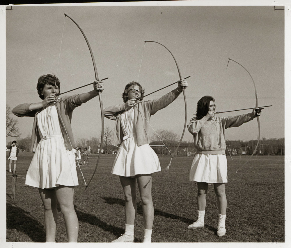 Student archers, 1963 (source University Archive Photo Collection)