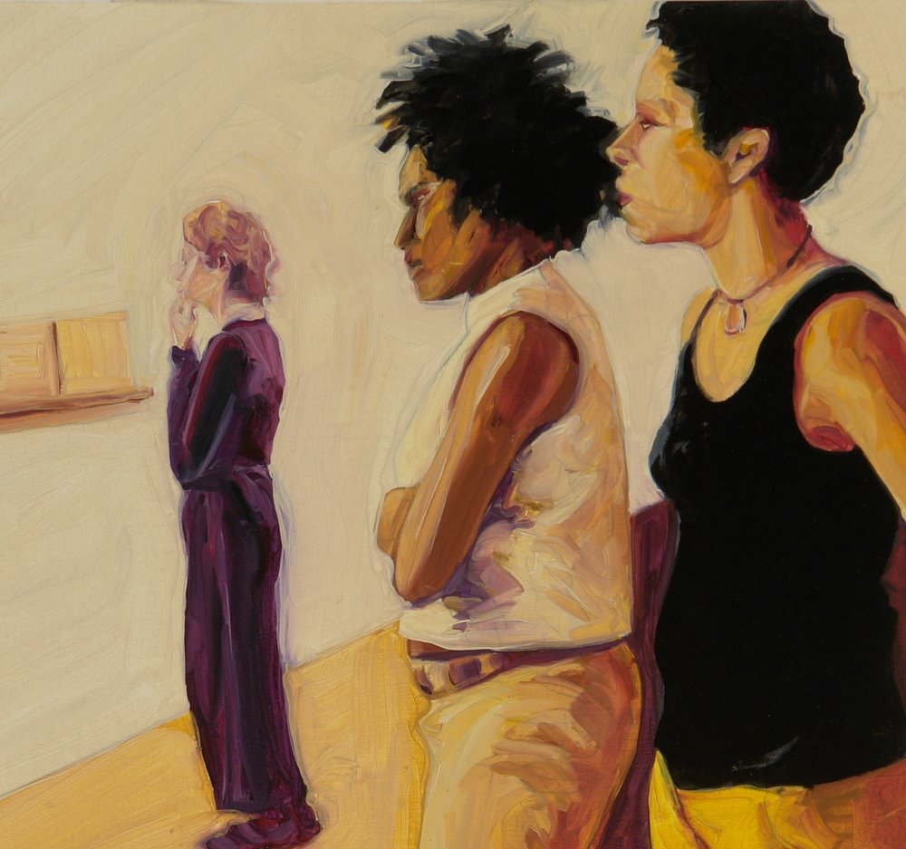 Looking at Art: Laurie Phillips, Catherine Kennedy, Kyrin Hobson, Women's Art Institute 2006, Patricia Olson, 2006, oil on ragboard, 14⅛ x 8 inches (Image Source: Patricia Olson)