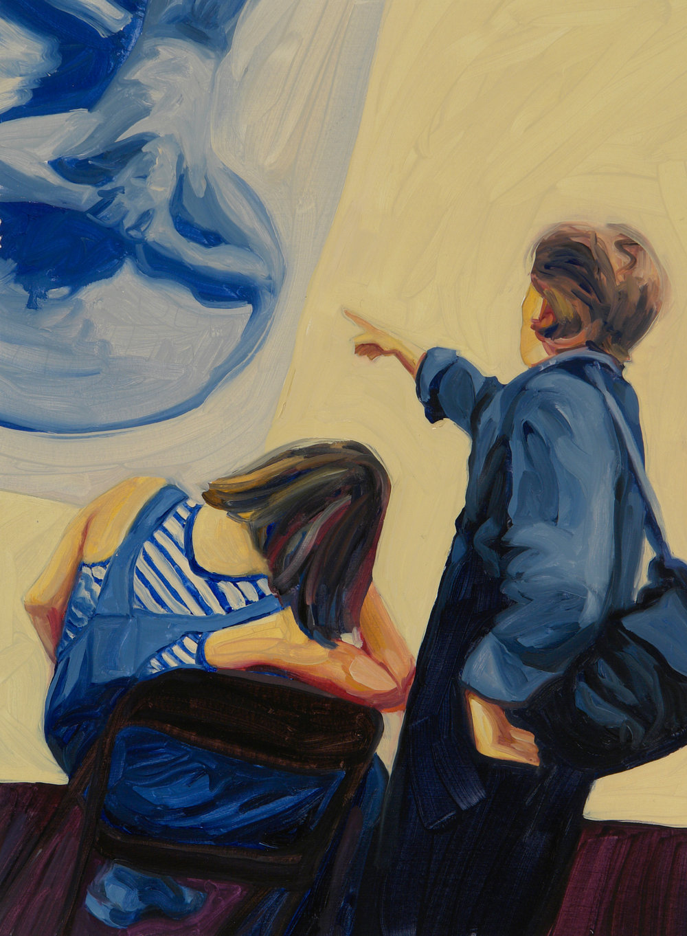 Looking at Art: Kristin Copham and Elizabeth Erickson, Women's Art Institute 2004, Patricia Olson, 2005, oil on ragboard, 13¼ x 9 ¾ inches(Image Source: Patricia Olson)