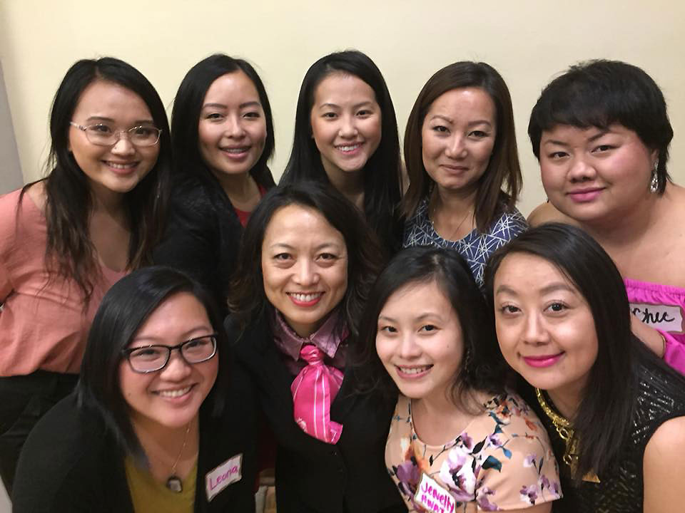 Hnub TShiab Board Members 2018. Top row left to right: Gao Thor, Ma Vang, Yer Moua, Mai Vang, Chee Lor Bottom row left to right: Leona Thao, Pa Der Vang, Jewelly Lee, Cindi Yang