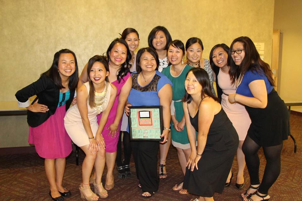 Hmong Women's Leadership Institute 2014 Graduates. Left to right: Shee Xiong, Ariel Garcia Lopez, Choua Yang, MaiTao Yang, Kabo Yang, MaiChue Moua, MayShoua Moua, Eve Lor, Leona Thao, Laurine Chang, Sai Thao.
