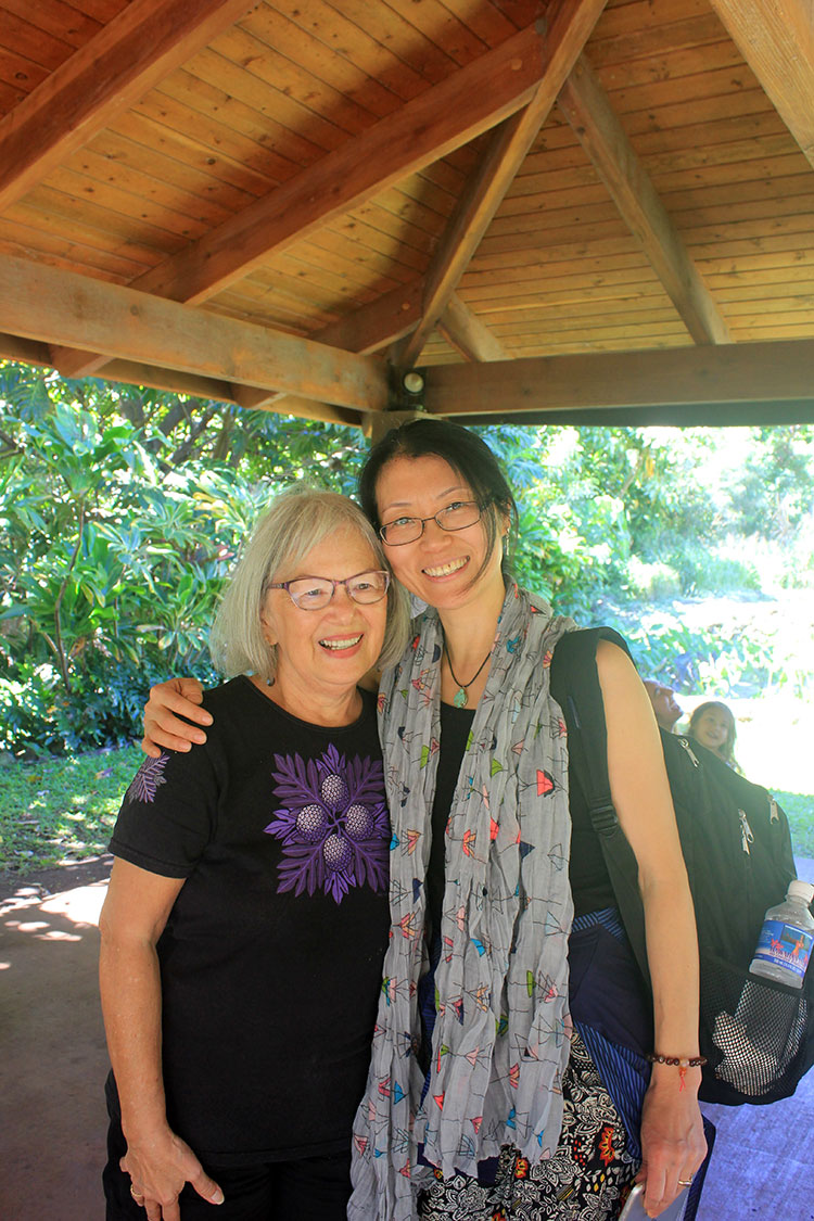 Wallette Garcia Pellegrino and Hui Wilcox, on Nohoʻana  Farm.