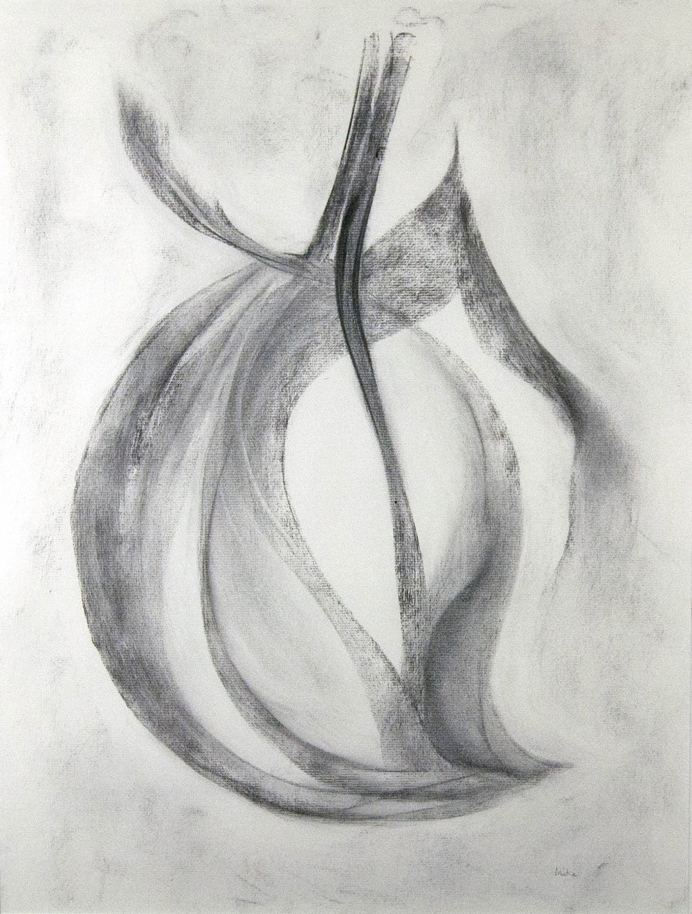 Sr. Mary Virginia Micka, CSJ,  Where What Is Still Undiscovered Abides , n.d.. Charcoal on paper. Collection of St. Catherine University. [Image Source: Fine Arts Collection, used with permission]