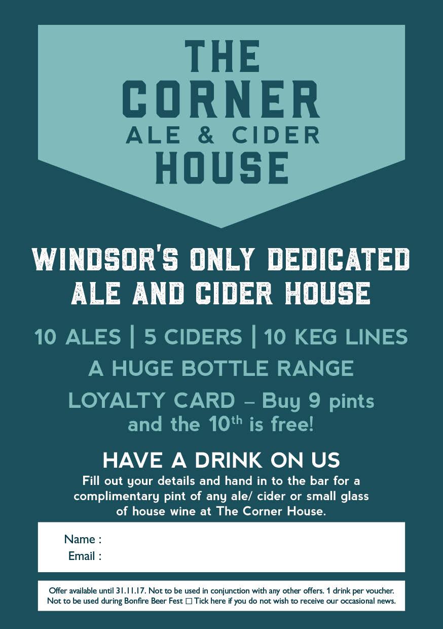 Corner House Drinks Voucher