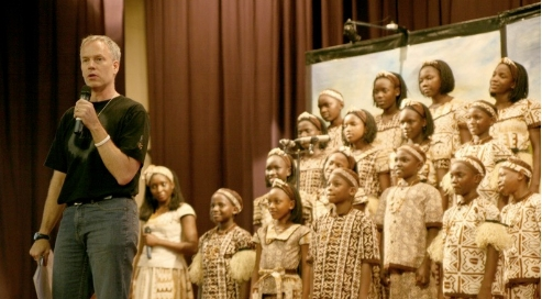 Scott Lawson with the renowned Watoto choir of Uganda.