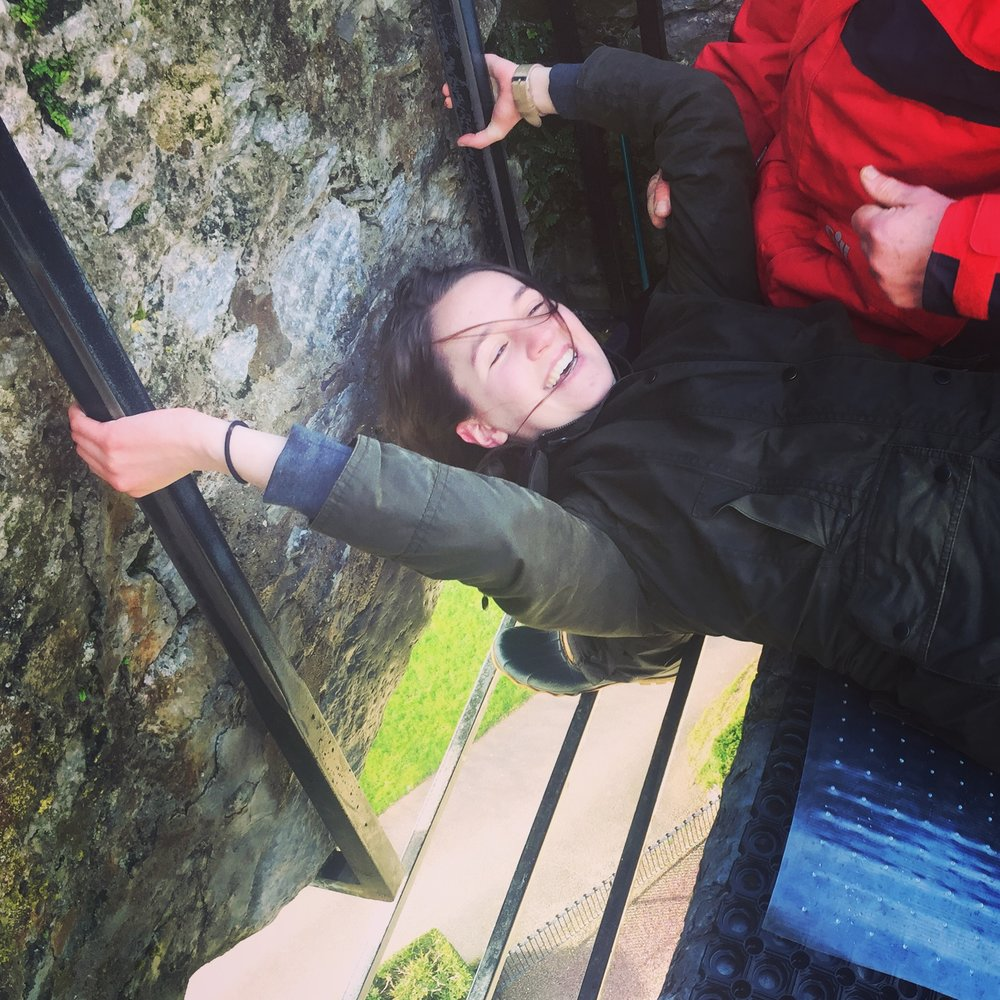 Kissing the Blarney Stone - Blarney, Ireland - March 2016