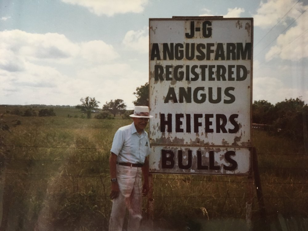 My cattle rancher grandfather@work