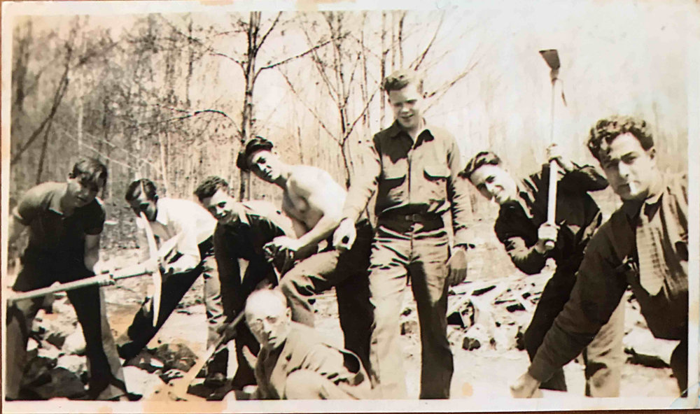 My grandfather-in-law and his brothers and buddies working hard as part of the WPA after WWII