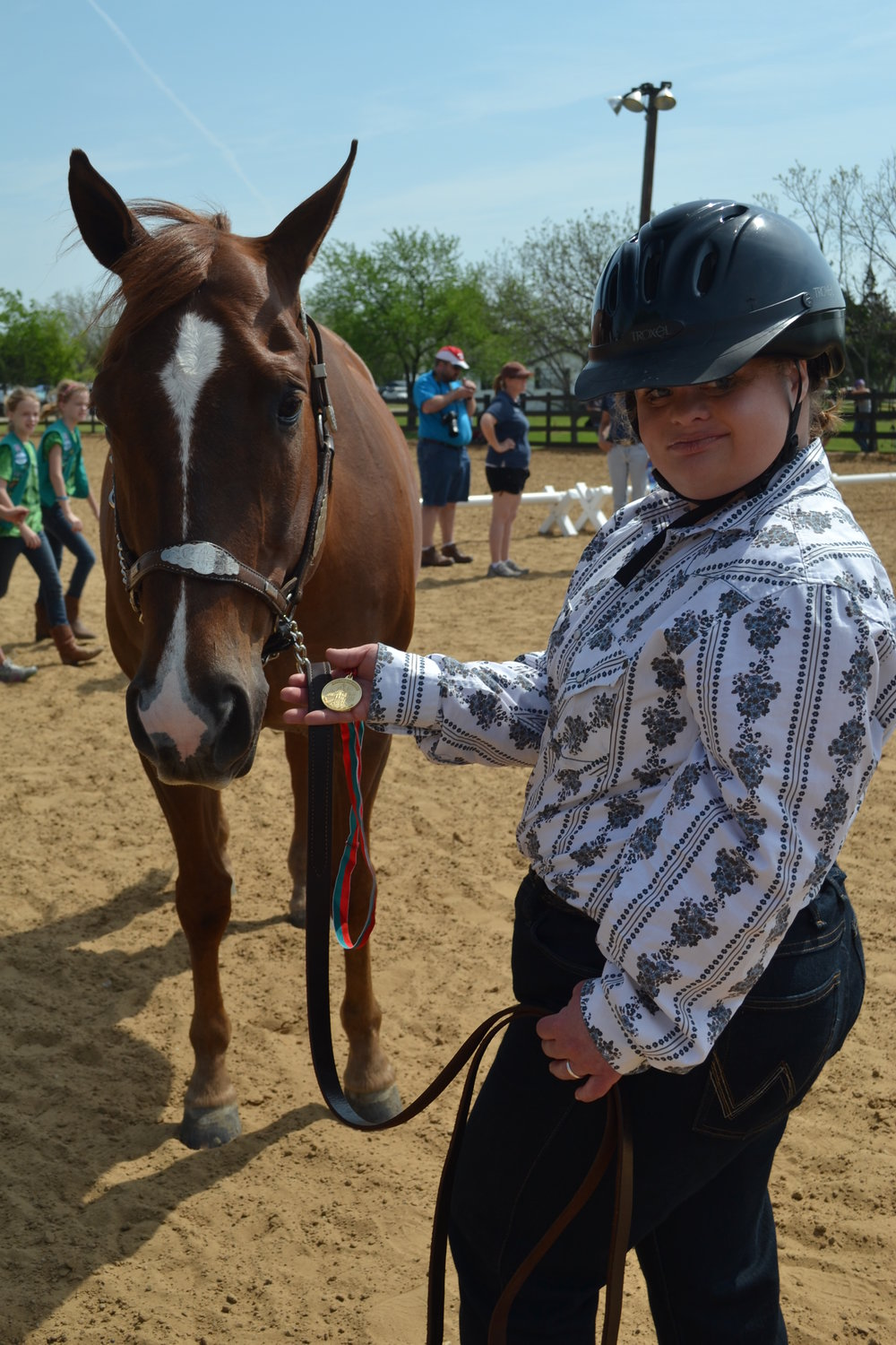 Sabrina and Equest Therapy Horse Amigo
