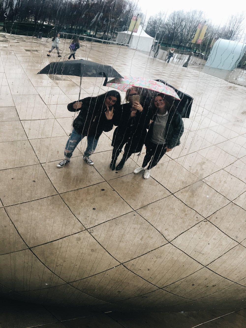 Marin {far left}, me, Hayden {far right}