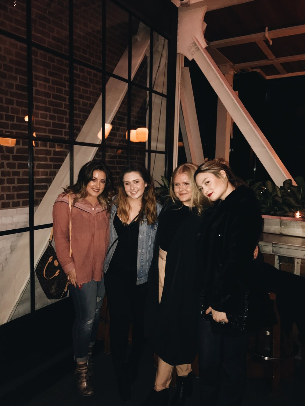 Carly, Haley, me, and Eleni