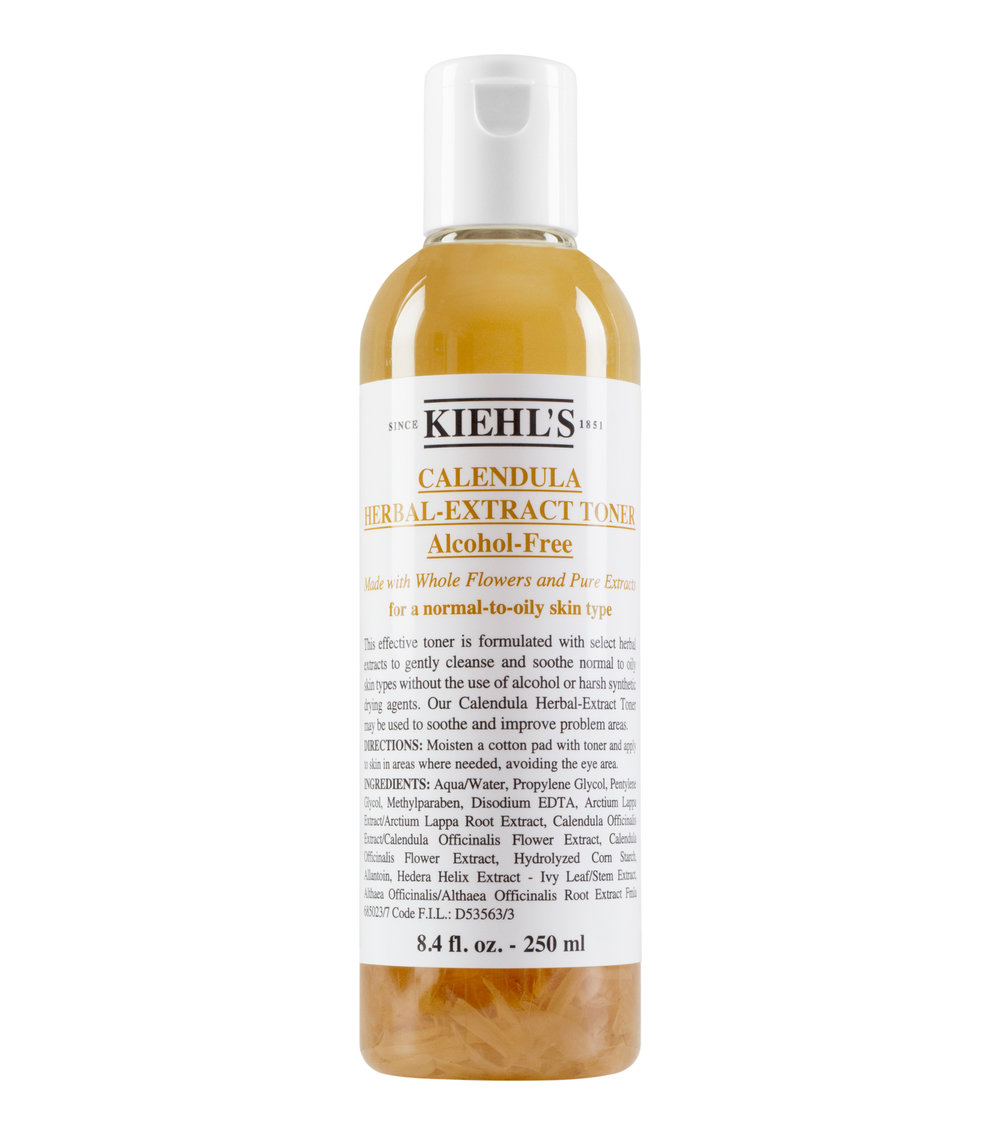 Kiehl's Calendula Herbal-Extract Toner {$21} - Next comes toner. I like this one by Kiehl's since it's directed at oily skin and has no alcohol nor does it dry your skin out. I also LOVE this cucumber-based toner by Kiehl's as well.