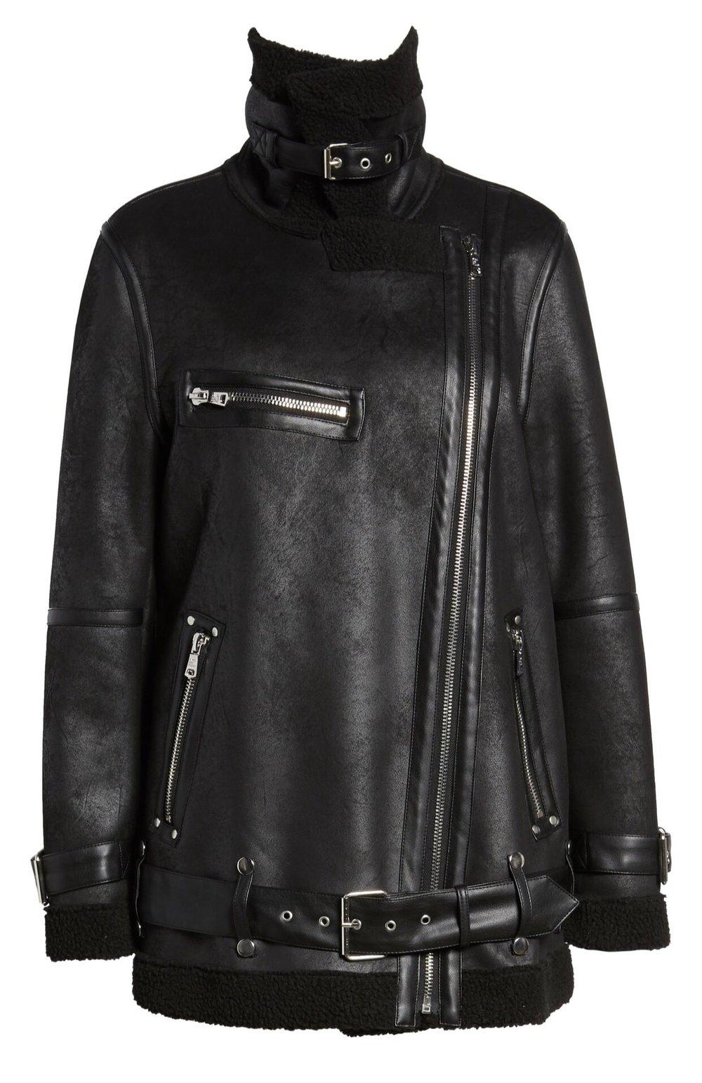 Avec Les Filles Shearling Jacket {$129.90} - After sale: $199