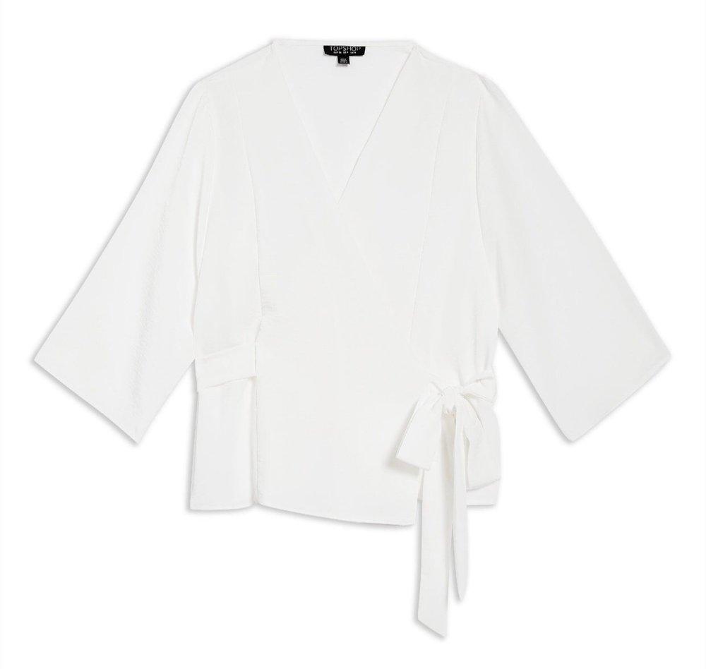 Topshop Kimono Wrap Blouse {$39.90} - After sale: $60