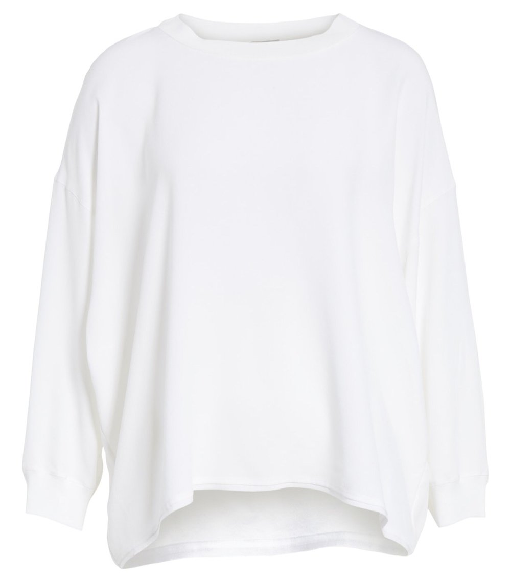 Vince Rib Trim Silk Blouse {$183.90} - After sale: $275
