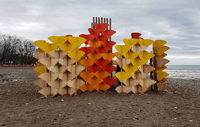 Winter Stations on the beach . . . #winterstations2019 #winterstations #thebeach #toronto