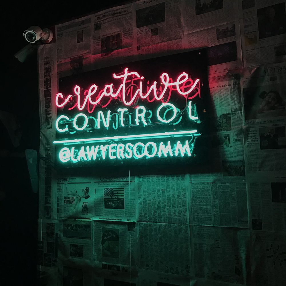(PC: Amy Young. If you don't have custom neon lights, what are you evening doing?)
