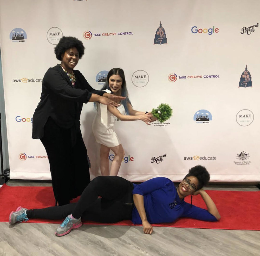 Credit:  @diana_arlana  When @dcwebfest is over, we be like....🏾🤣 I had the BEST time! This has DEFINITELY been my favorite web fest yet. I've never worked with a team of so many incredible people. I'm overwhelmed with joy....and adrenaline....aight...after consecutive 16 hour work days, I'm going to hibernationRecaps coming soon