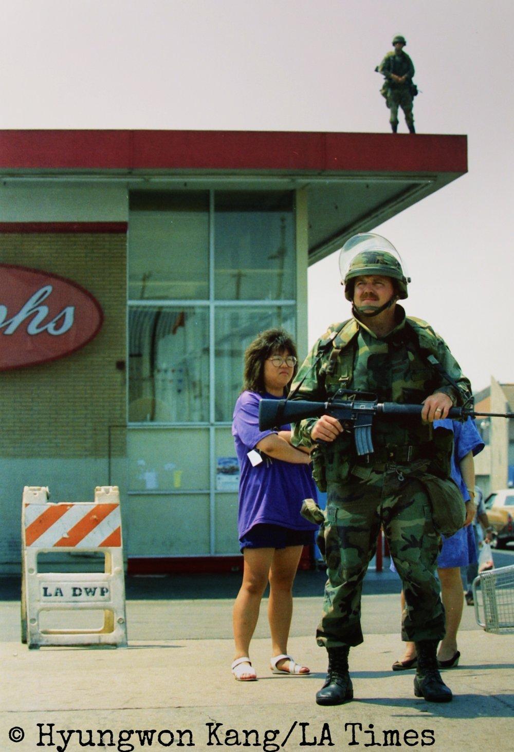 National Guard in Koreatown
