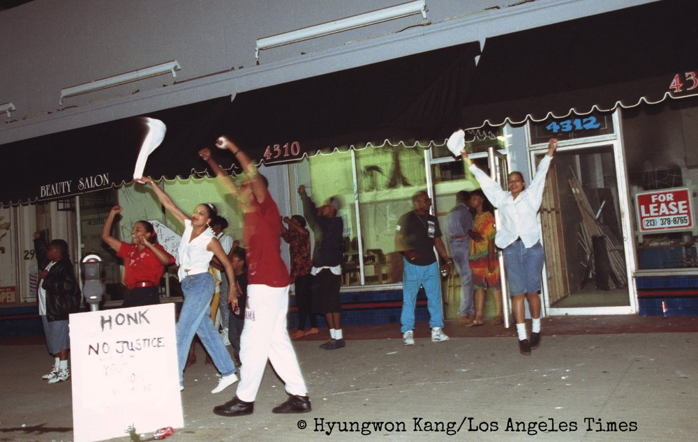 Protest in South Central