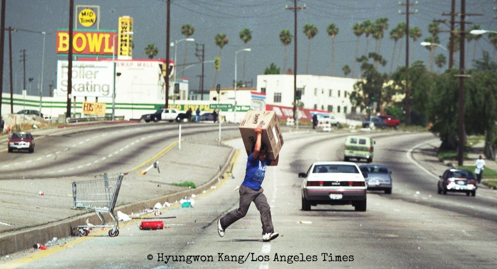 Looting during the L.A. Riots