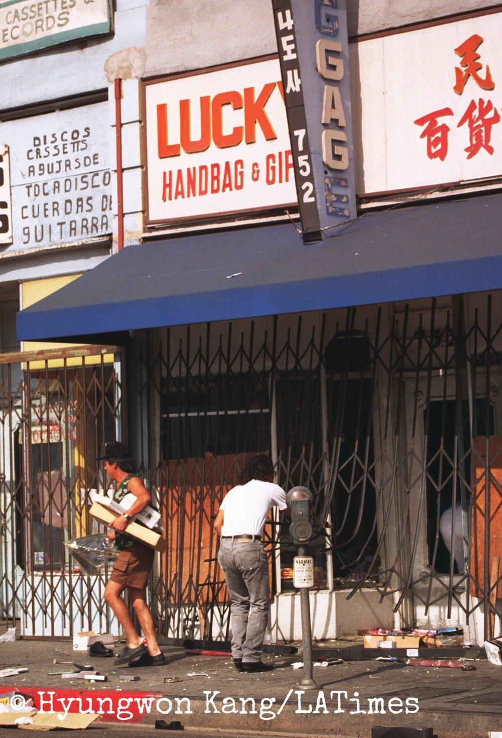 Looting in Koreatown