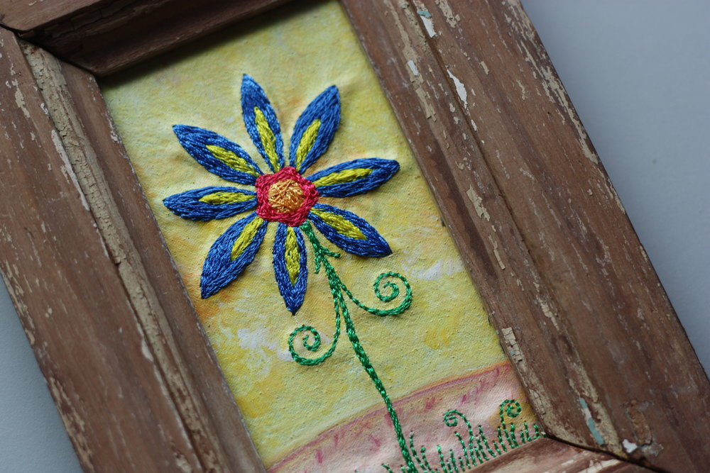 Whimsical Stitched Art