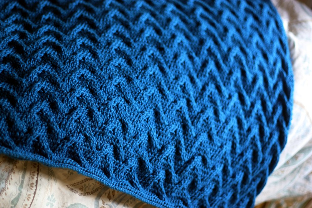 sand cable baby blanket