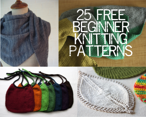 Beginner Knitting Patterns Free : 25 Free Beginner Knitting Patterns   Painting Lilies