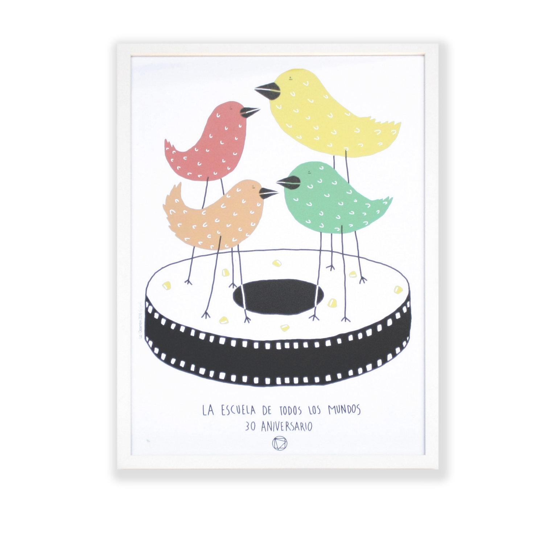 Framed Bird Poster No 9 50 Goods By Burnham Design