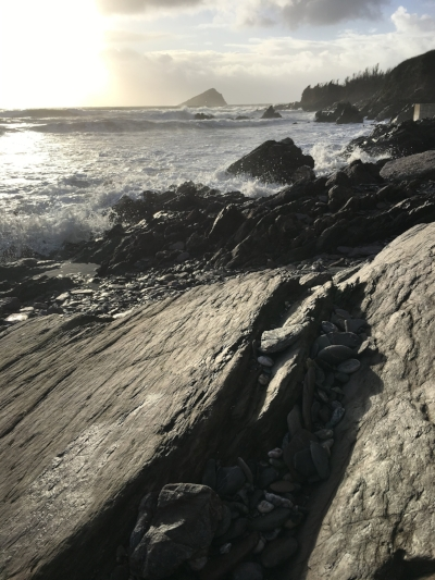 The wild weather kept us indoors for a lot of the time, except on NYE when we blew away all the cobwebs with a cheeky visit to Wembury Beach - I've never seen such big waves in the UK, it was amazing.