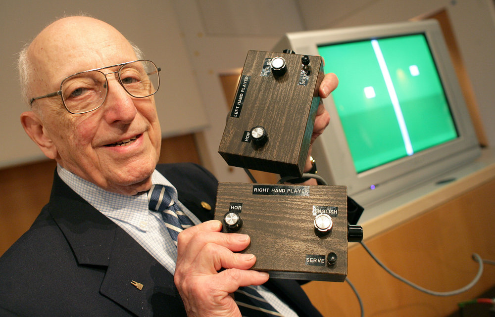 Ralph Baer and his signature Brown Box.