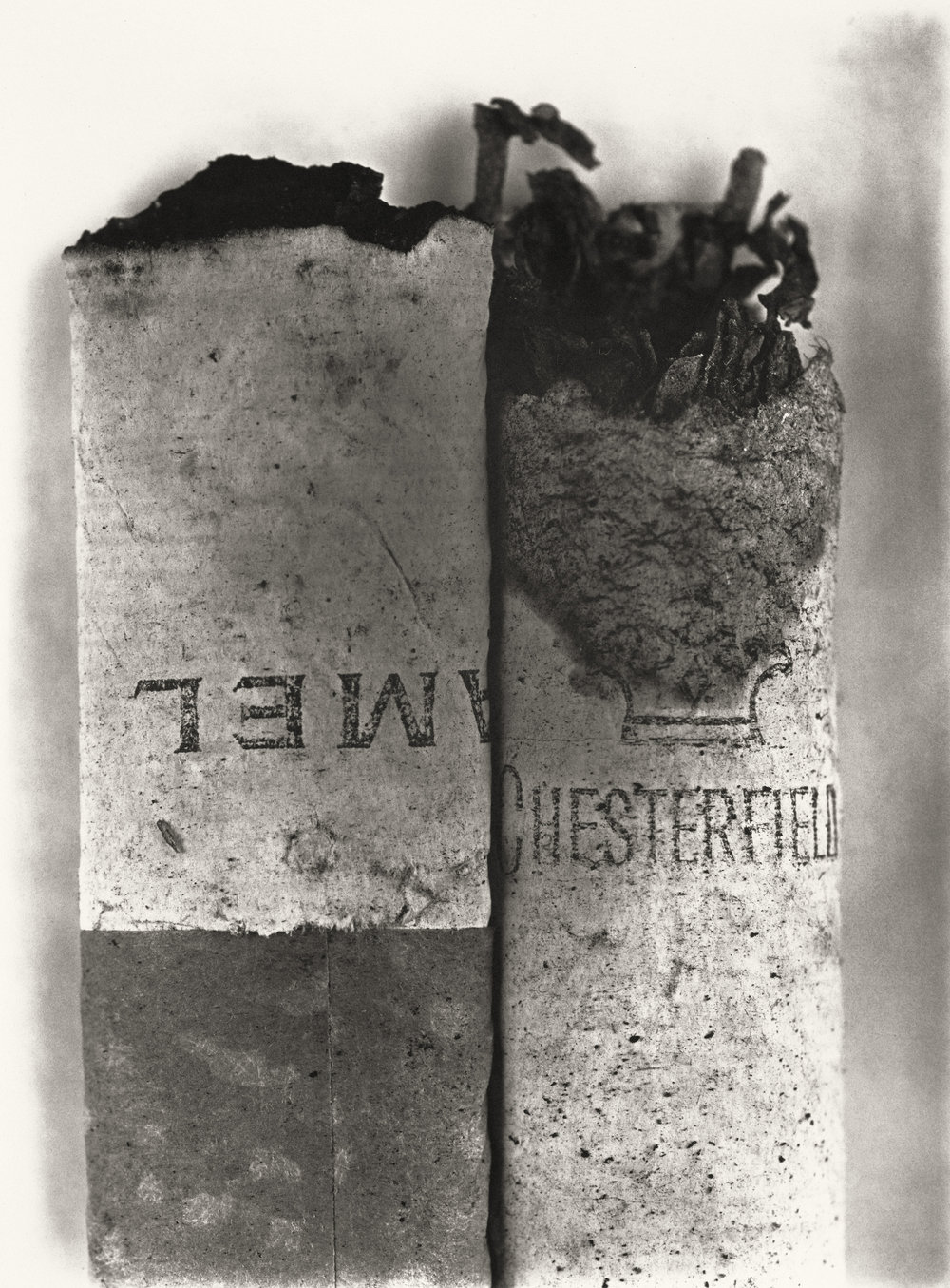 Irving Penn (American, 1917–2009)    Cigarette No. 37 , New York, 1972    Platinum-palladium print, 1975  23 ½ × 17 ⅜ in. (59.7 × 44.1 cm)  The Metropolitan Museum of Art, New York  Promised Gift of The Irving Penn Foundation  © The Irving Penn Foundation