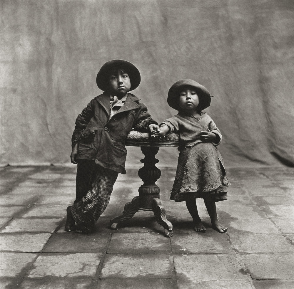 Irving Penn (American, 1917–2009)     Cuzco Children , 1948    Platinum-palladium print, 1968   19 ½ × 19 ⅞ in. (49.5 × 50.5 cm)   The Metropolitan Museum of Art, New York   Promised Gift of The Irving Penn Foundation   © Condé Nast