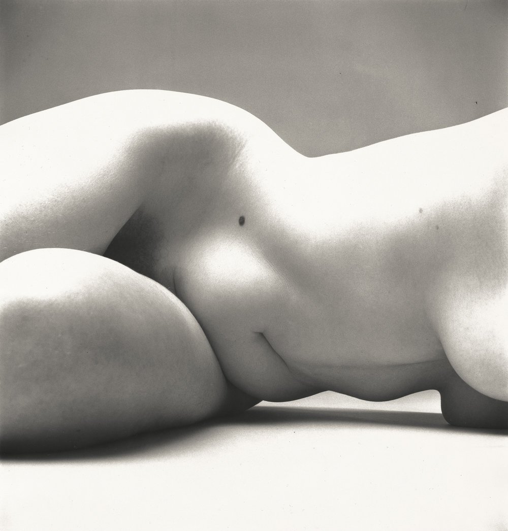 Irving Penn (American, 1917–2009)     Nude No. 72 , New York, 1949–50    Gelatin silver print   15 ⅝ × 14 ¾ in. (39.7 × 37.5 cm)   The Metropolitan Museum of Art, New York,   Gift of the artist, 2002   © The Irving Penn Foundation
