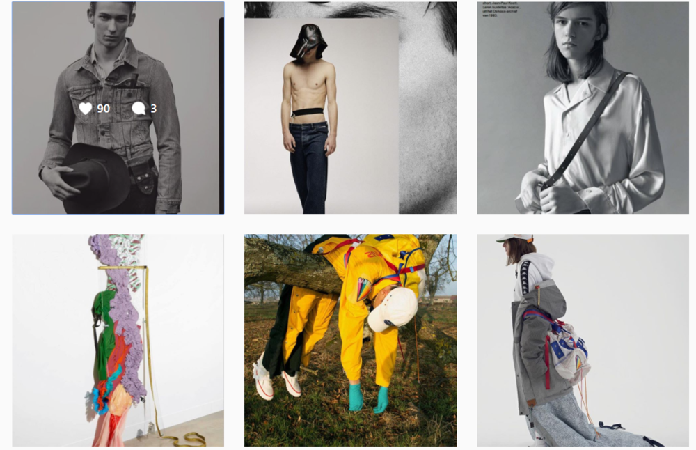 Instagram feed of Ritual PRojects featuring clients Vetements, Y/Project and Sakuanz