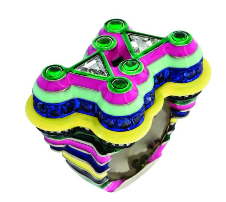 The Tri-Di ring's colorful profile