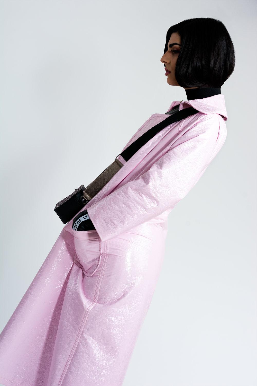 Coat - Mardenlay  Dress - Rubén Galarreta  Handbag - Primark