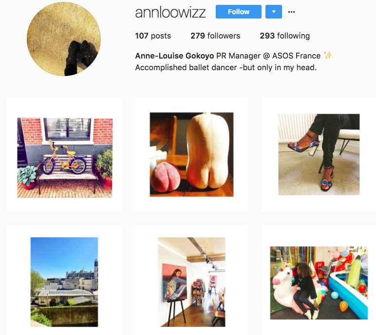 Anne-Louise's colorful and playful Instagram feed.