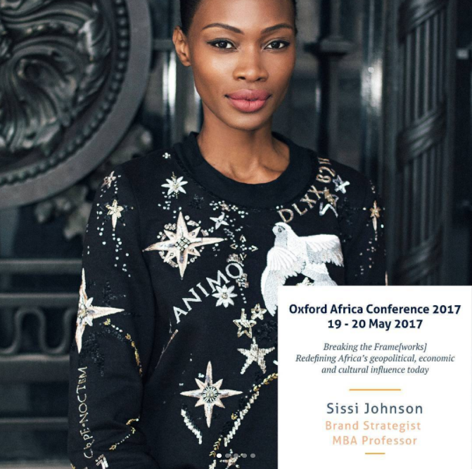 Sissi Johnson was the moderator of the last panel of Oxford Africa Conference