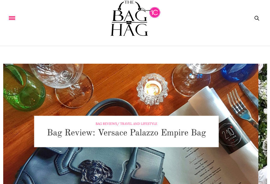 The homepage of The Bag Hag Diaries.