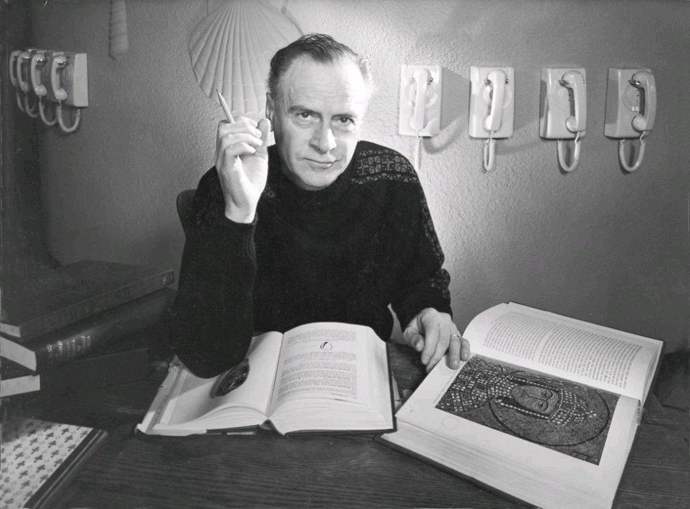 A photo of Professor Marshall McLuhan.