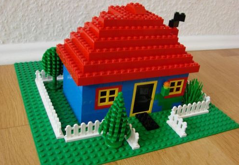 A house created out of Legos.