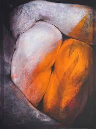 Etienne Gros, Triple genou, acrylique sur toile, 97×130 cm (takes on boumbang)