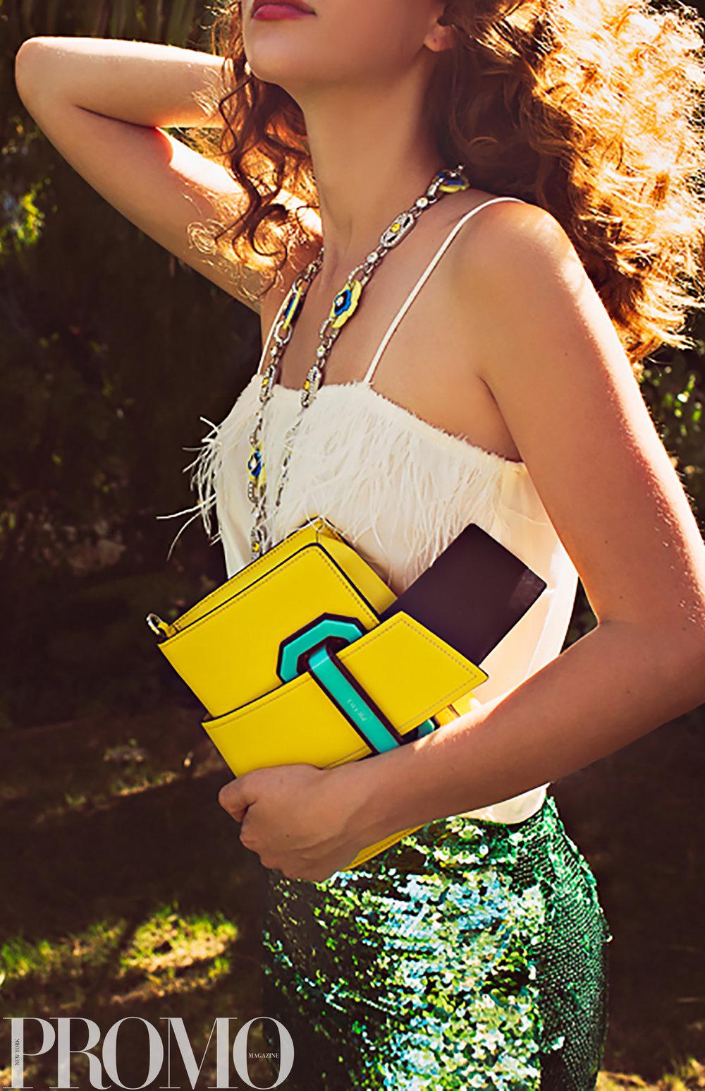 Pendant & Bag - Prada  Skirt - TopShop Unique