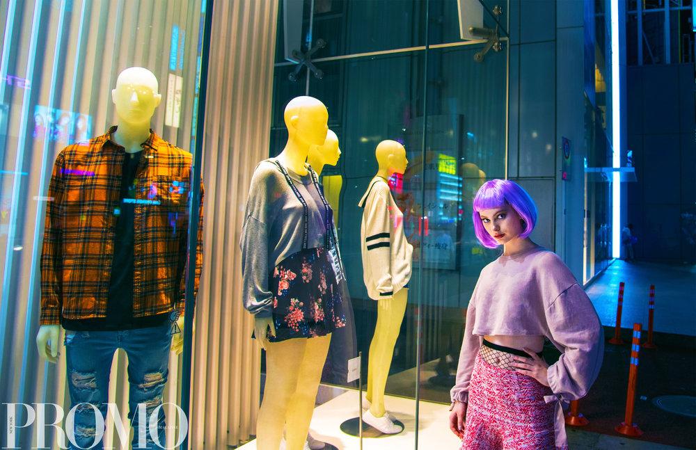 Wig - Don Quijote Shirt - Zara Skirt - Zara Tights - JuniorSweet