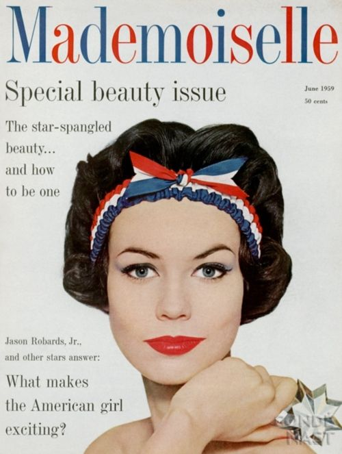 A vintage cover of Mademoiselle magazine.