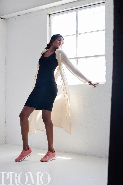 My Style Mode Trench  FIFTEEN TWENTY dress  Reebok Sneakers  Caravelle New York Watch