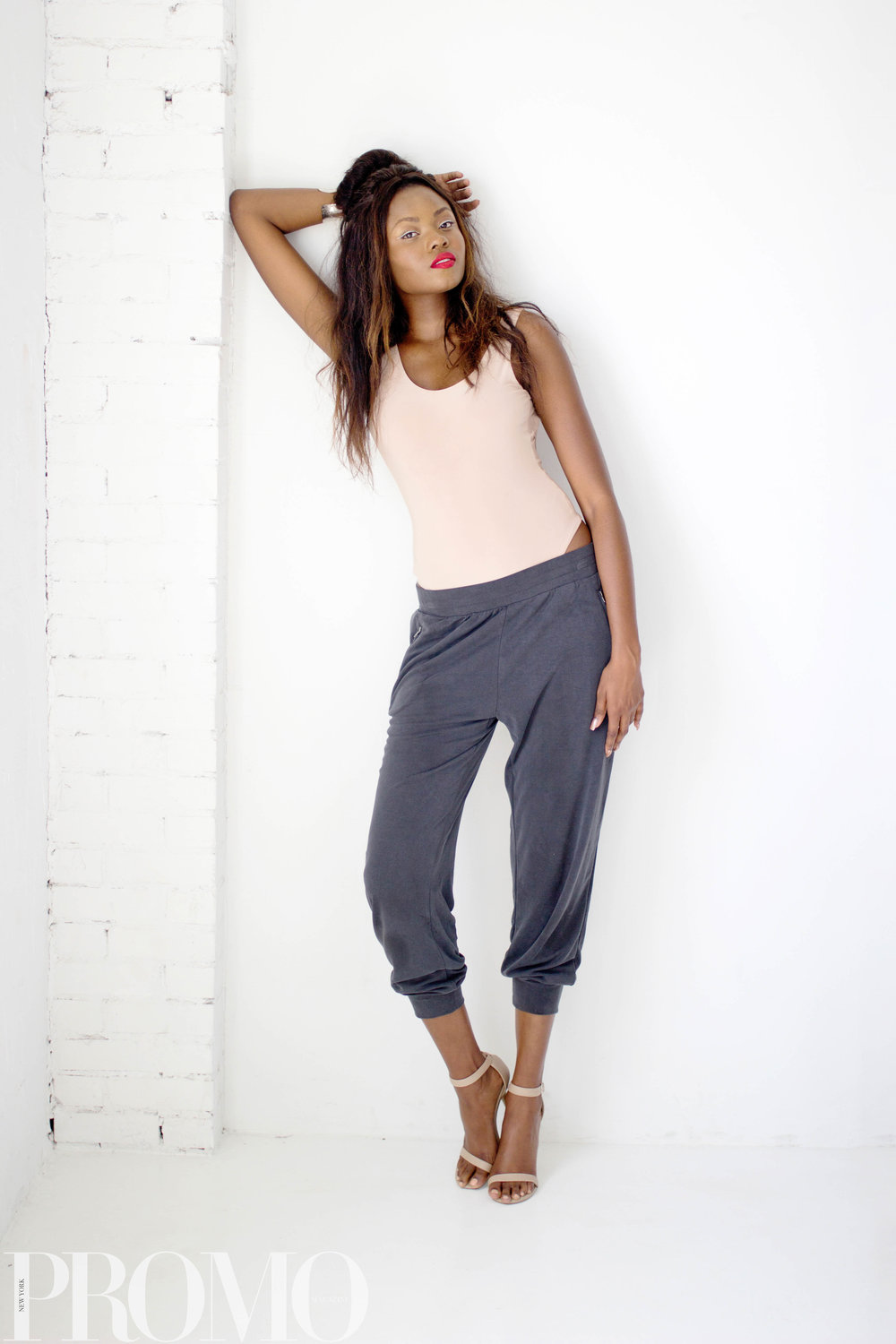 My Style Mode Bodysuit  Style & Co Joggers  ShoeDazzle Shoes
